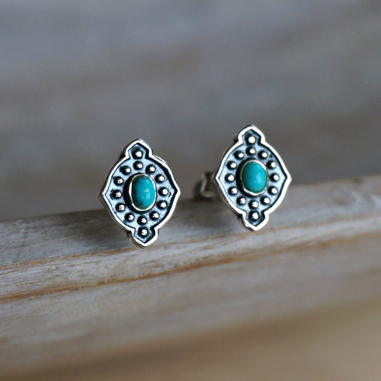 Yana Turquoise Stud Earrings