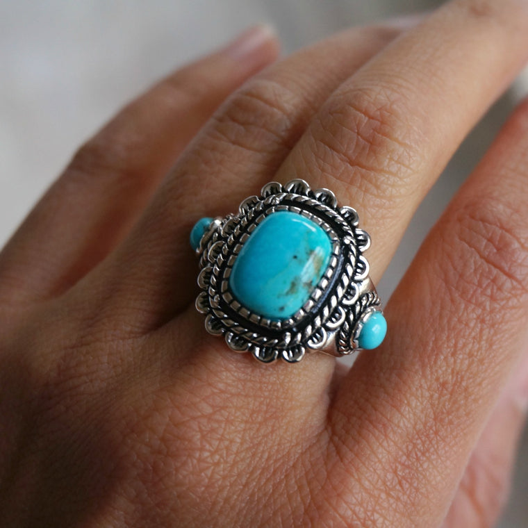 Rayna Turquoise Ring - SOWELL JEWELRY