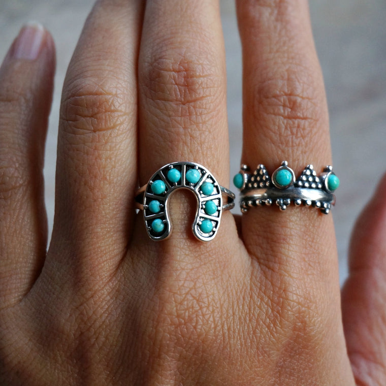 Horseshoe Turquoise Ring - SOWELL JEWELRY