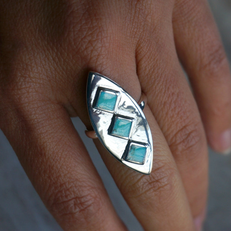 Naila Turquoise Ring - SOWELL JEWELRY