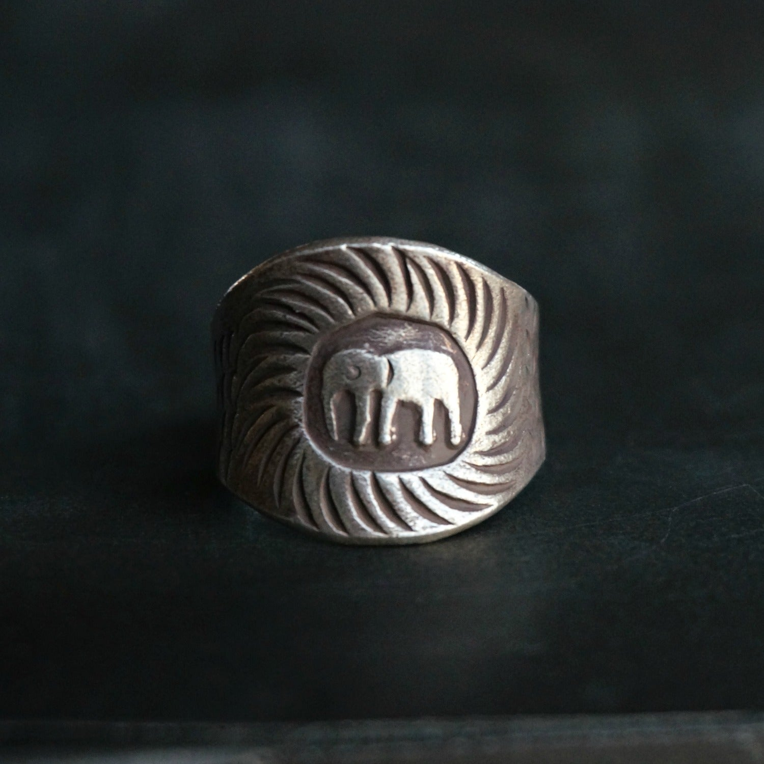 Nyles Silver Elephant Ring - SOWELL JEWELRY