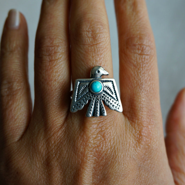 Thunderbird Turquoise Ring - SOWELL JEWELRY