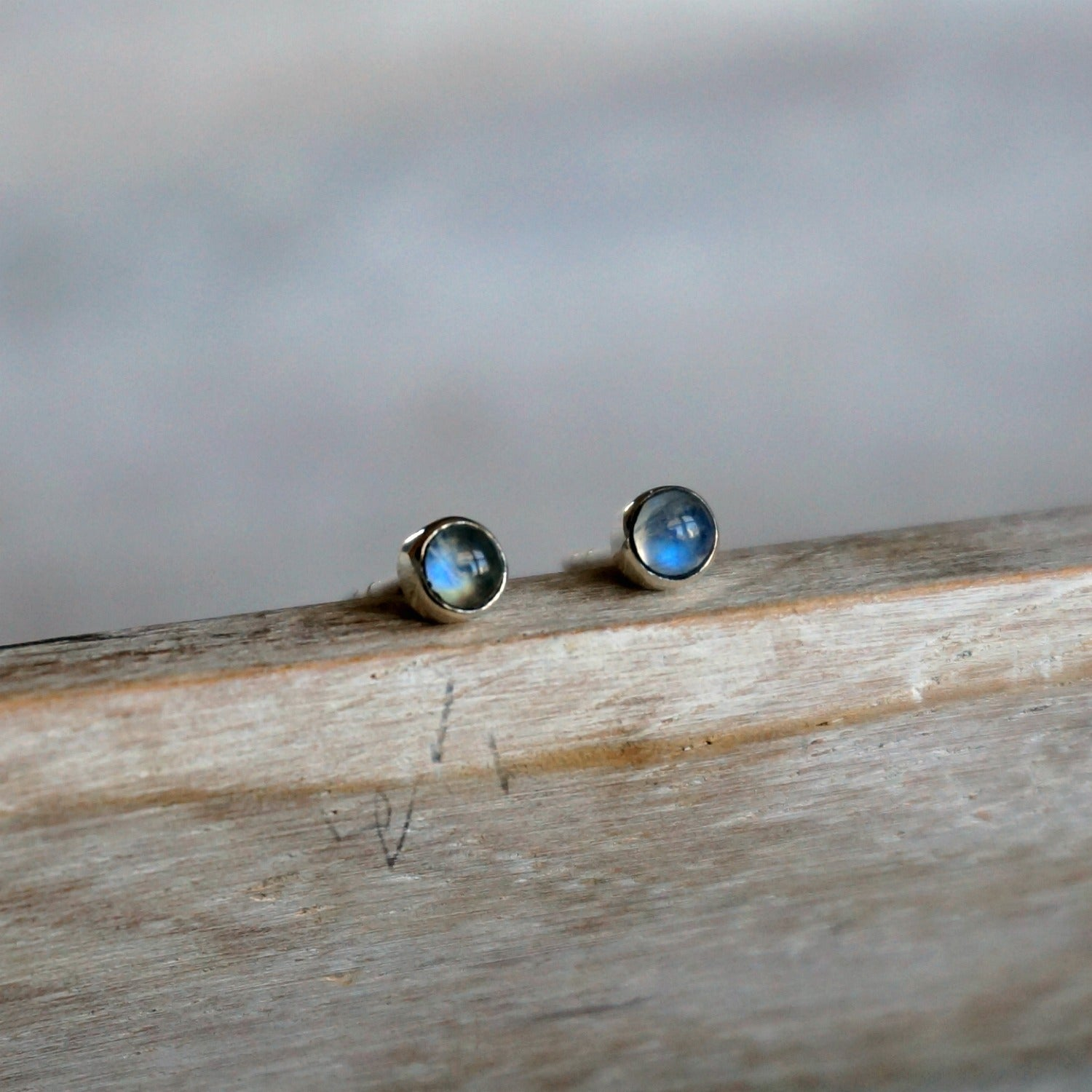 Moonstone Minimalist Earrings - SOWELL JEWELRY