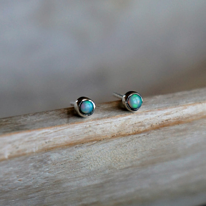 Opal Minimalist Earrings - SOWELL JEWELRY