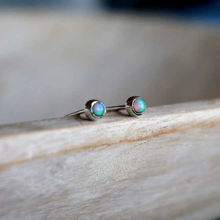 Opal Minimalist Earrings