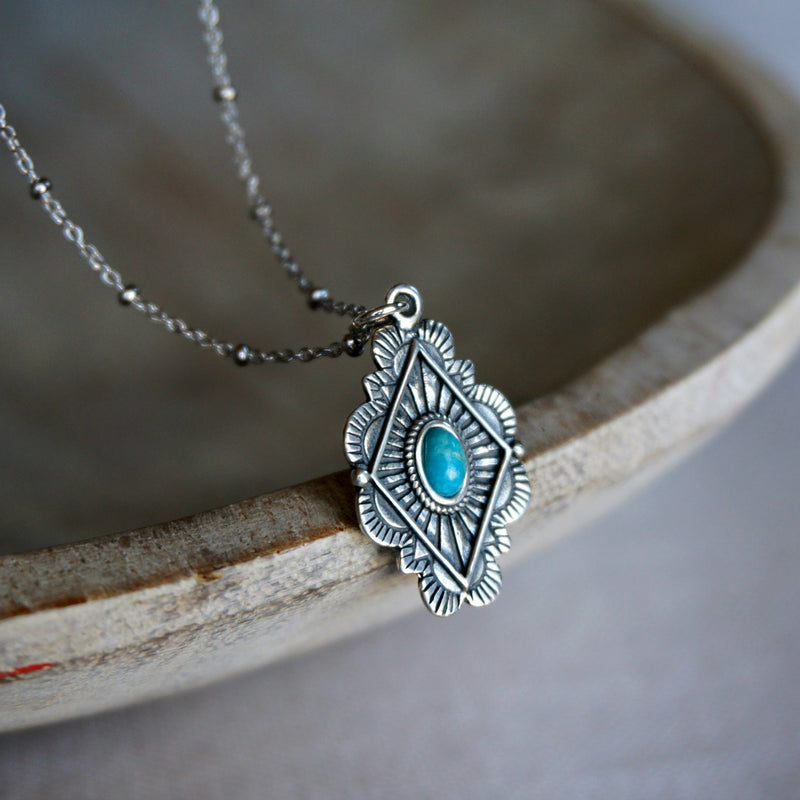 Leif Turquoise Necklace - SOWELL JEWELRY