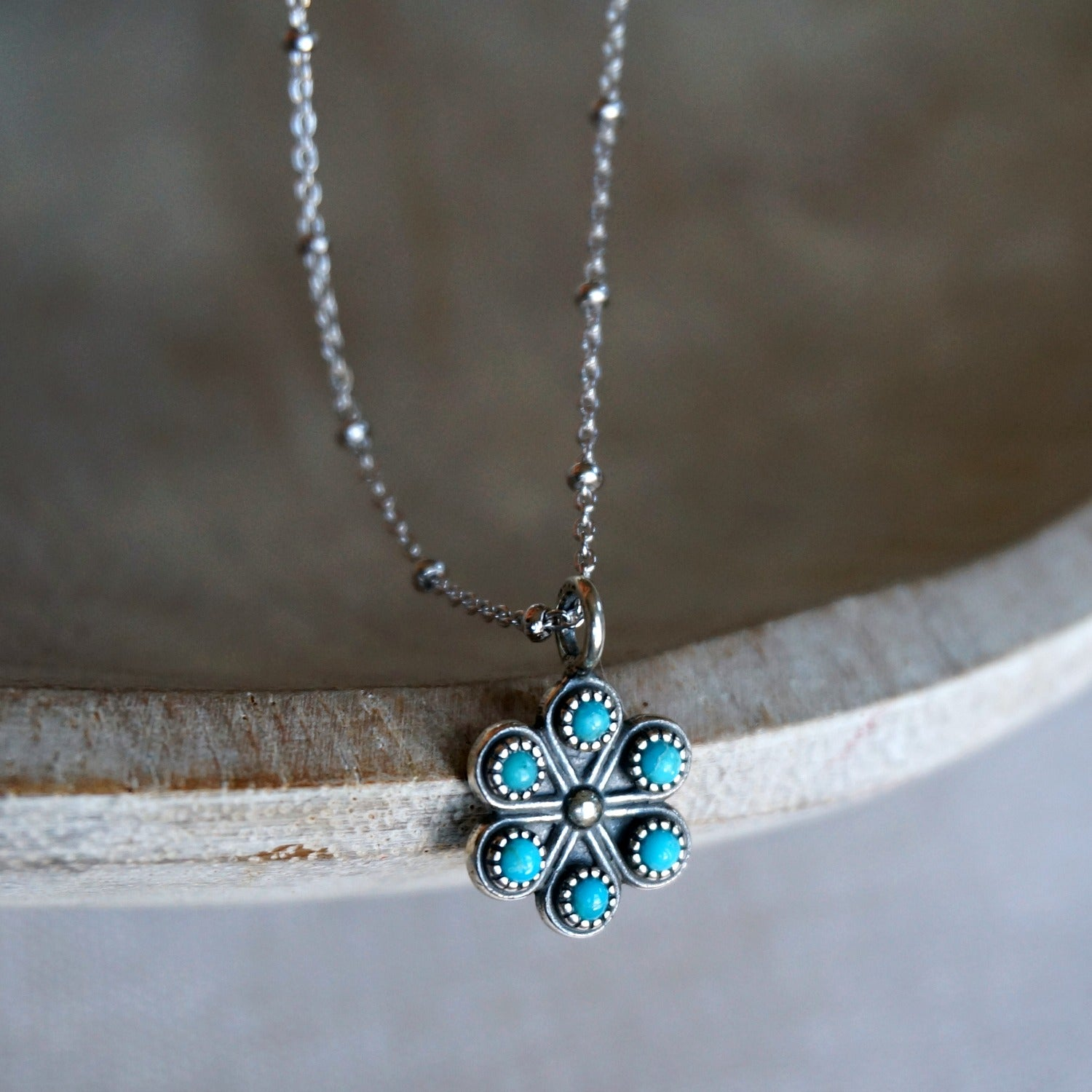Iris Turquoise Necklace - SOWELL JEWELRY
