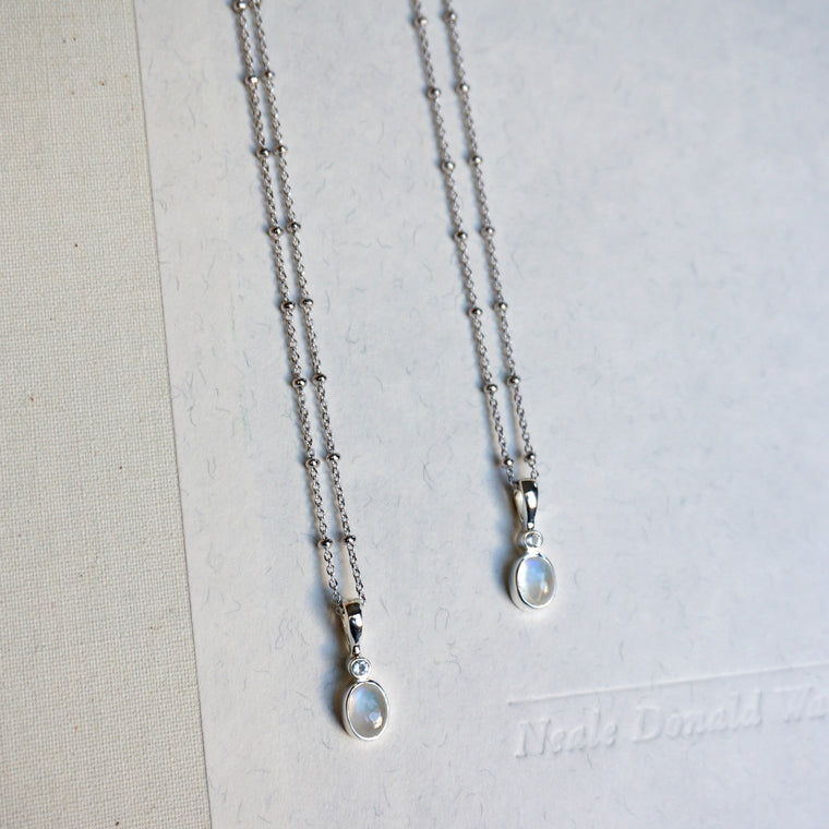 Avery Moonstone Necklace - SOWELL JEWELRY