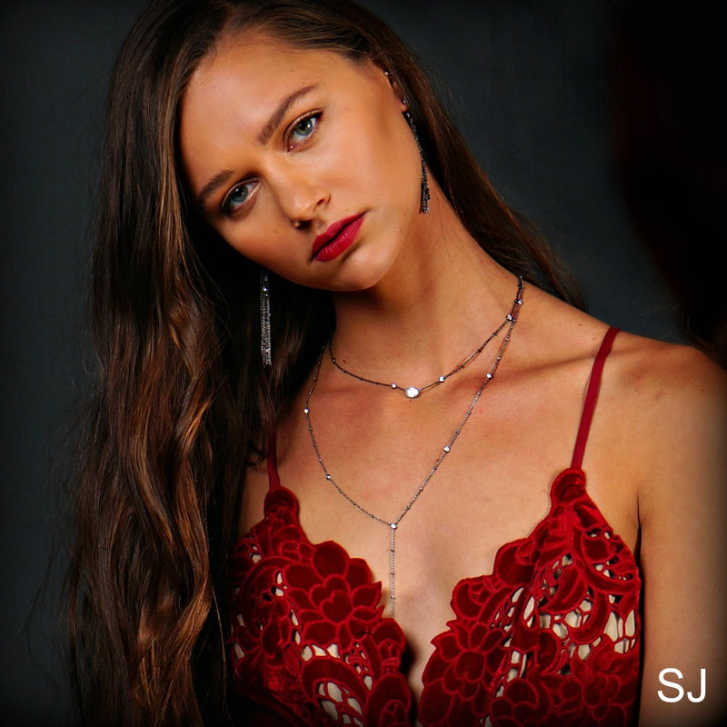 Giulia Sterling Silver Y-Necklace - SOWELL JEWELRY