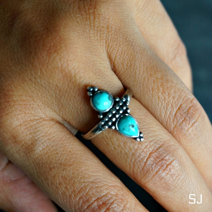 Pana Turquoise Ring - SOWELL JEWELRY