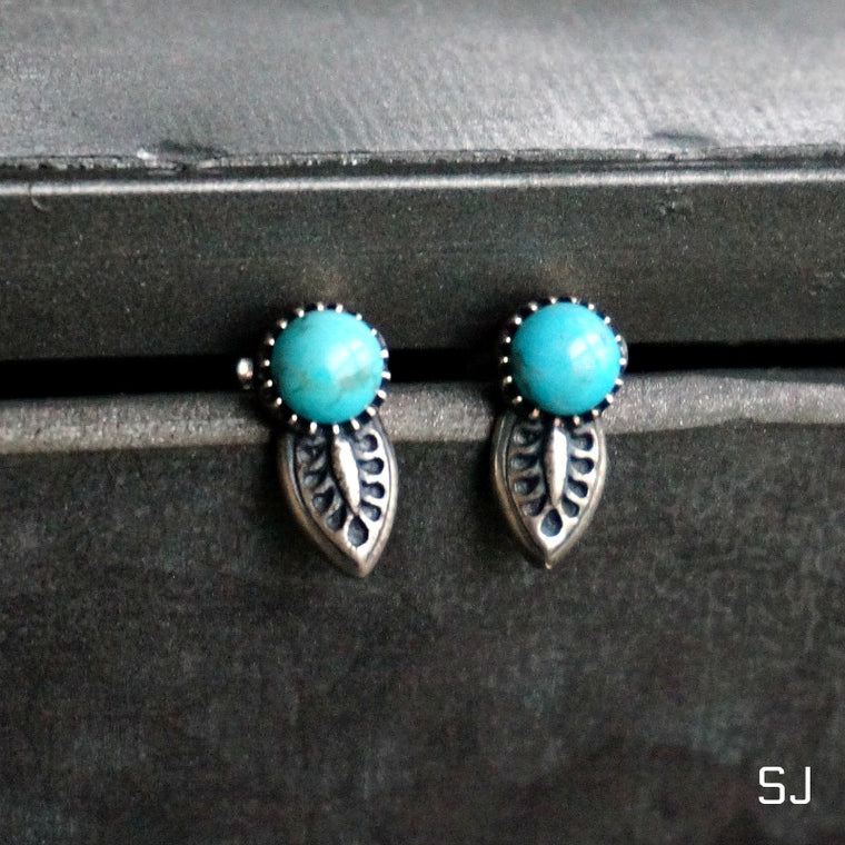 Angelica Turquoise Stud Earrings