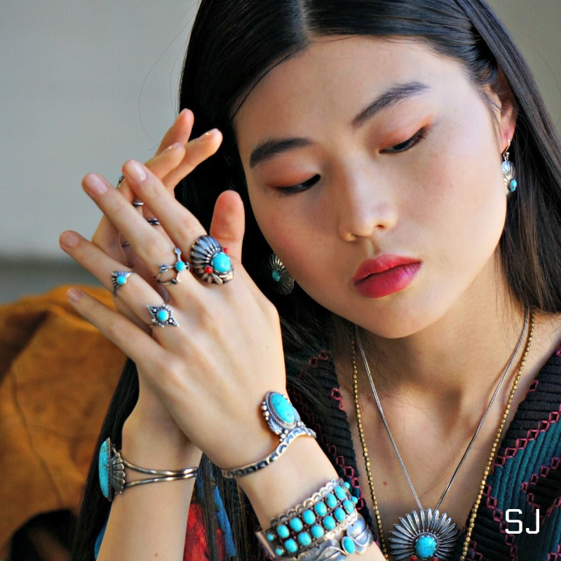 Headdress Turquoise Ring - SOWELL JEWELRY