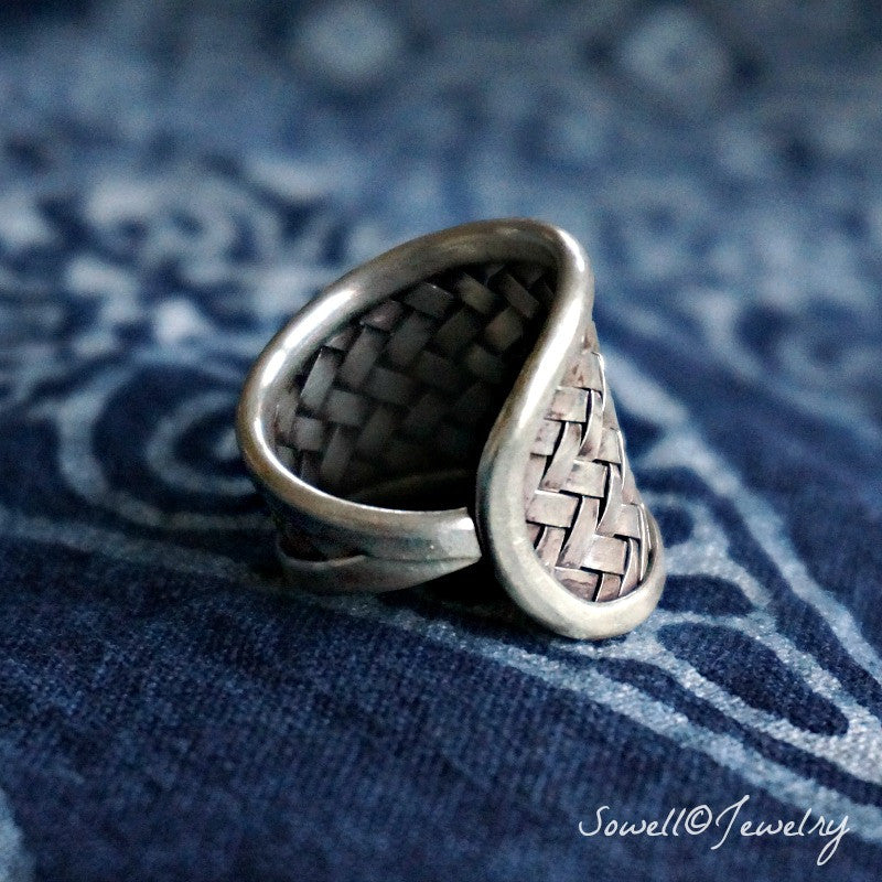 Anuman Silver Woven Ring - SOWELL JEWELRY
