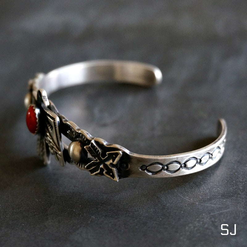Spiny Oyster Thunderbird Cuff - SOWELL JEWELRY