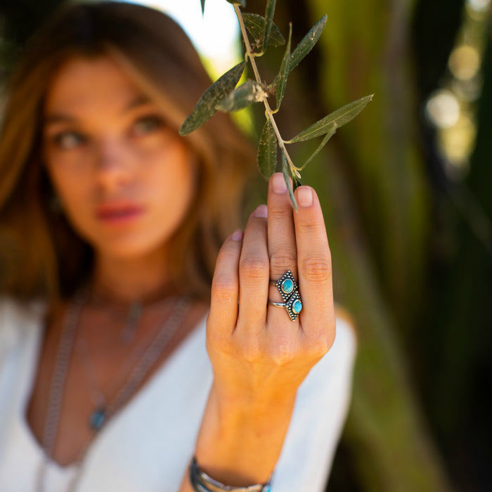 Bahman Turquoise Ring - SOWELL JEWELRY