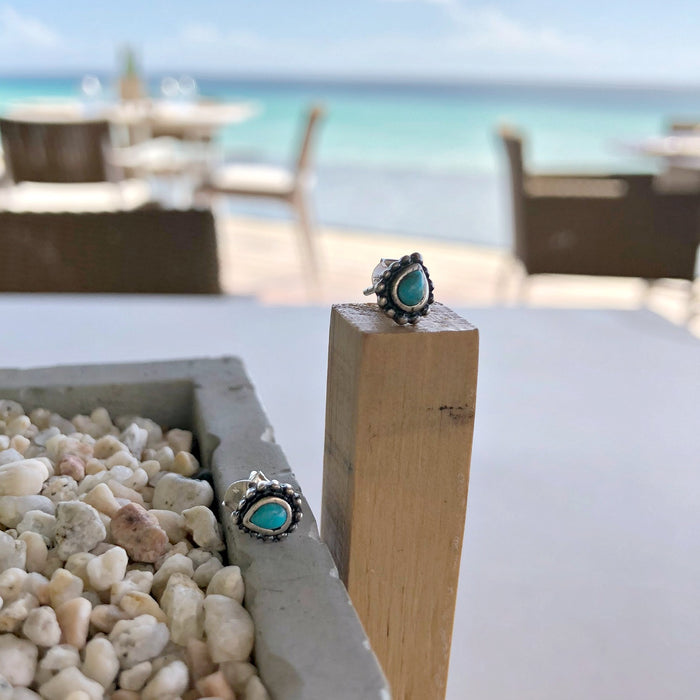 Maya Turquoise Stud Earrings - SOWELL JEWELRY