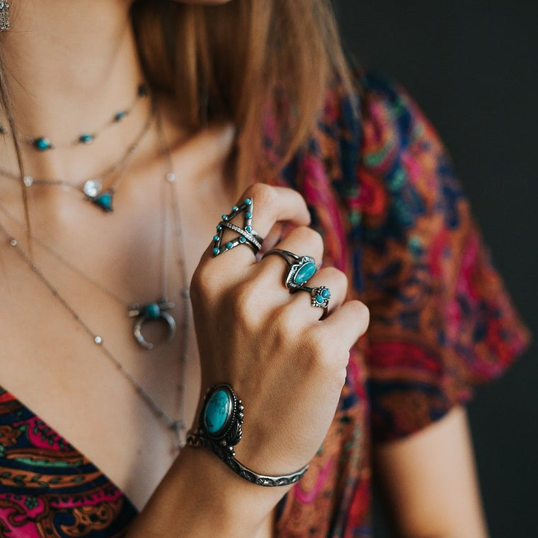 Jacy Turquoise Ring - SOWELL JEWELRY