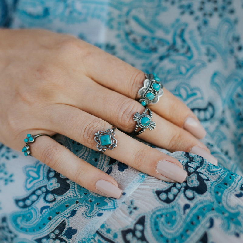 Amelia Turquoise Ring - SOWELL JEWELRY