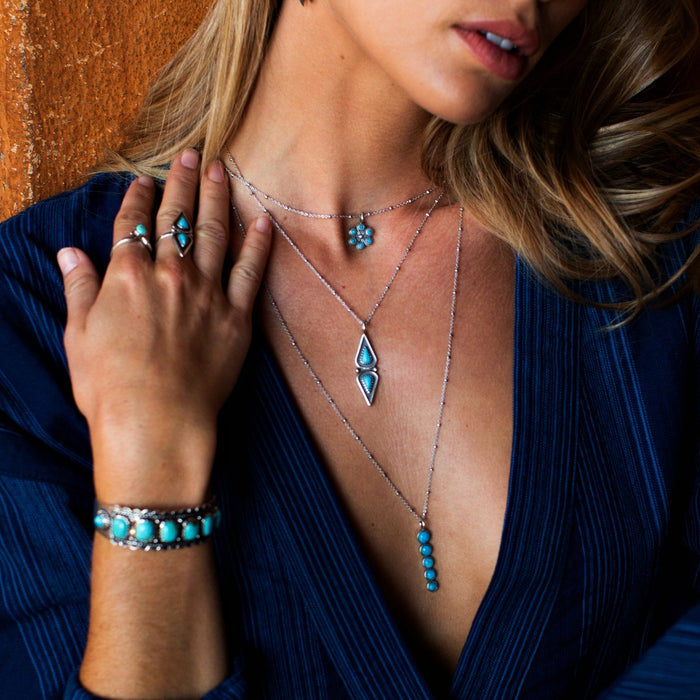 Elan Turquoise Necklace - SOWELL JEWELRY