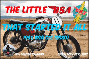 The Little BSA That Started It All