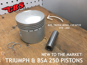 New To The Market: Triumph & BSA 250 Pistons