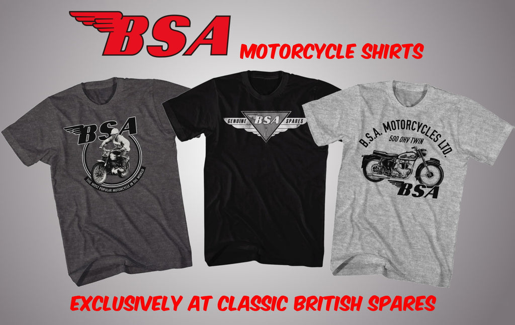 New BSA Motorcycle T-Shirt's Officially Licensed & Authentic Apparel