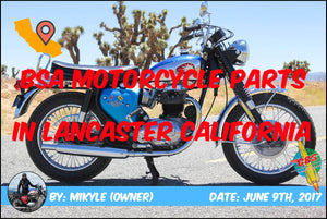 BSA Motorcycle Parts In Lancaster California