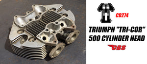 "Triumph ""Tri-Cor"" 500 Cylinder Head (CD274)"