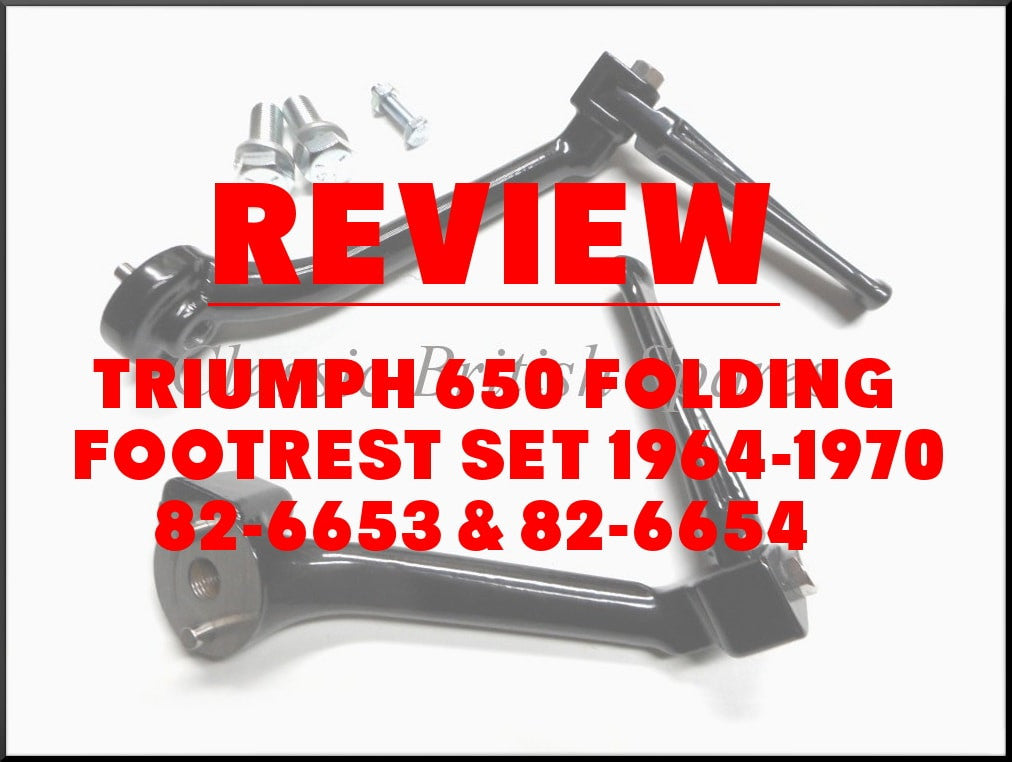 Review: Triumph 650 Folding Footrest Set 1964-70