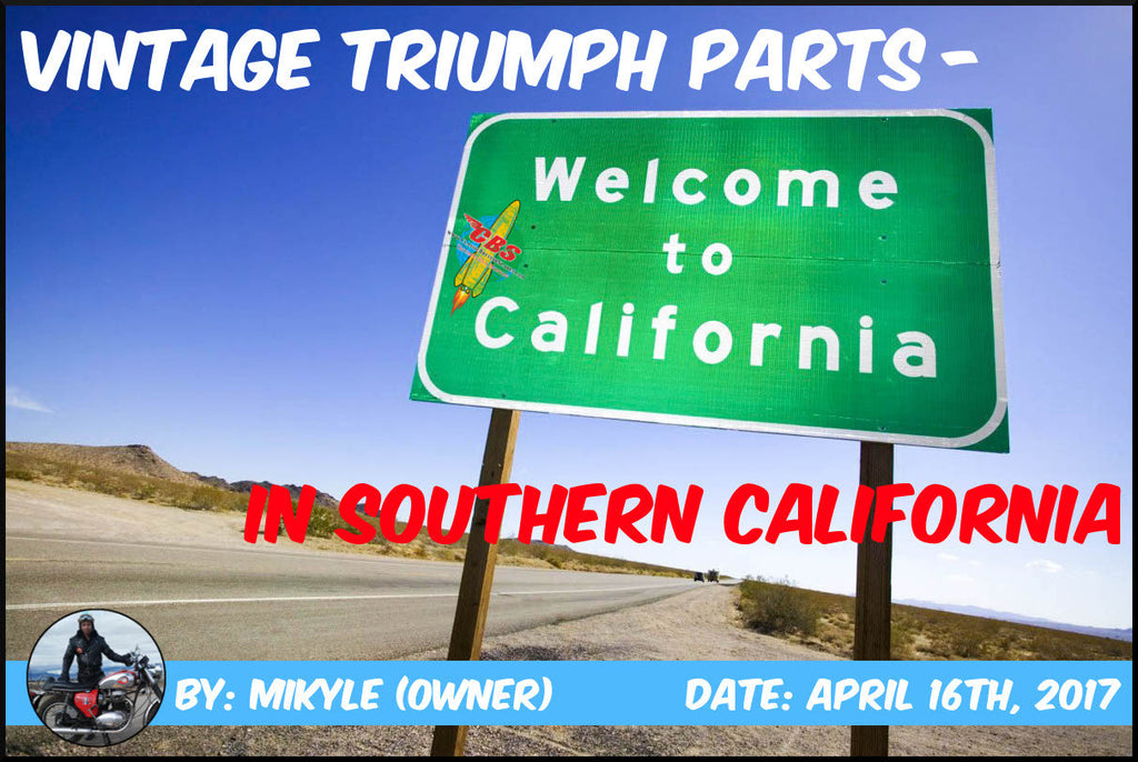 Vintage Triumph Parts In Southern California