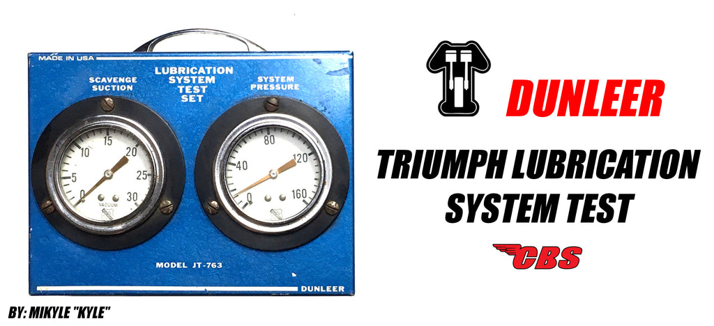 Triumph Lubrication System Test Set By Dunleer