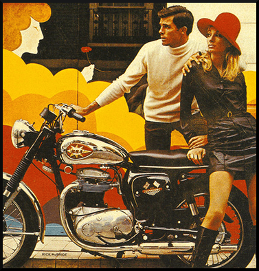 BSA Motorcycle Advertisment 1968