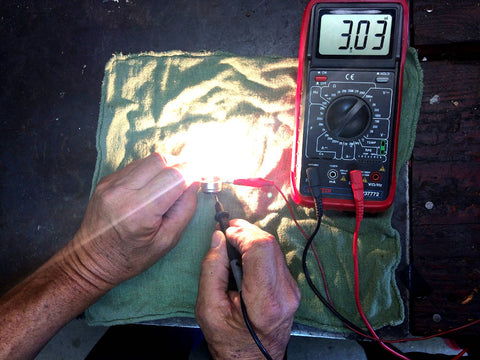Testing A 446 Lucas Headlight Bulb With Multimeter