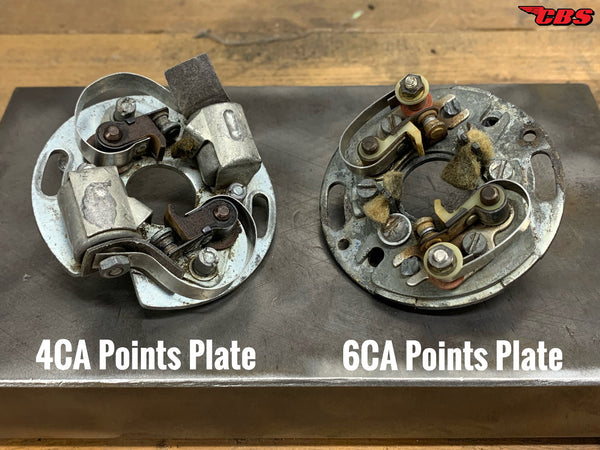 Lucas 4CA & 6CA contact breaker assembly plate