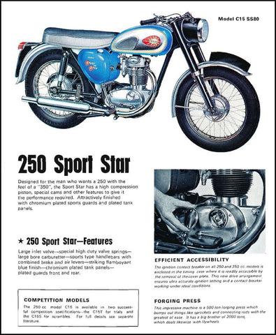 BSA C15 Advertisment