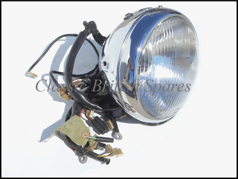 NOS BSA Lucas Headlight With Harness
