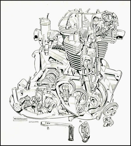 1969 Triumph Bonneville Engine Diagram