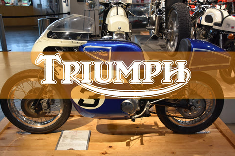 Vintage Triumph Motorcycle Parts Collection Banner