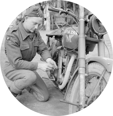 Working On A Vintage Matchless Motorcycle