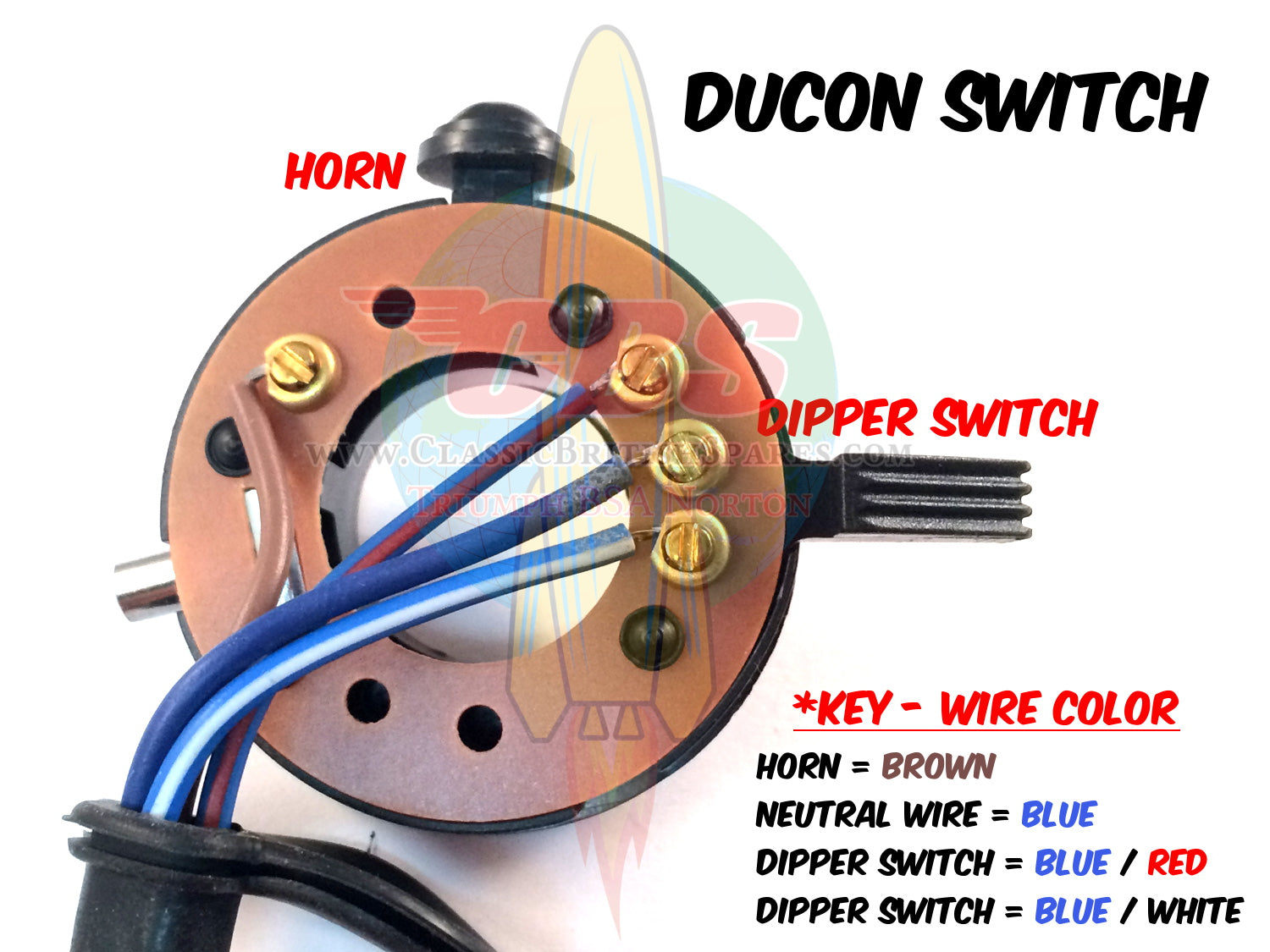 Wipac Ducon Tricon Switch Wiring Horn Diagram