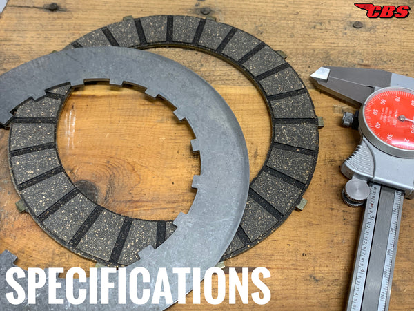 Specifications For EMGO Clutch Plates