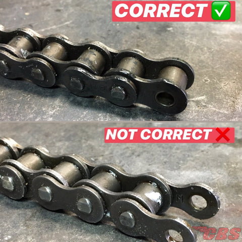 Correct vs Incorrect Cutting Of Drive Chain