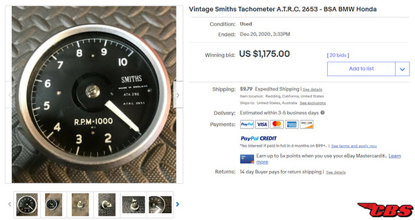 Smiths ATRC Tachometer on eBay