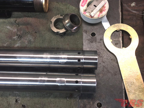 Internal Parts Of A Triumph Fork Assembly