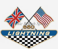 1969-1970 BSA Side Cover Decal Stickers