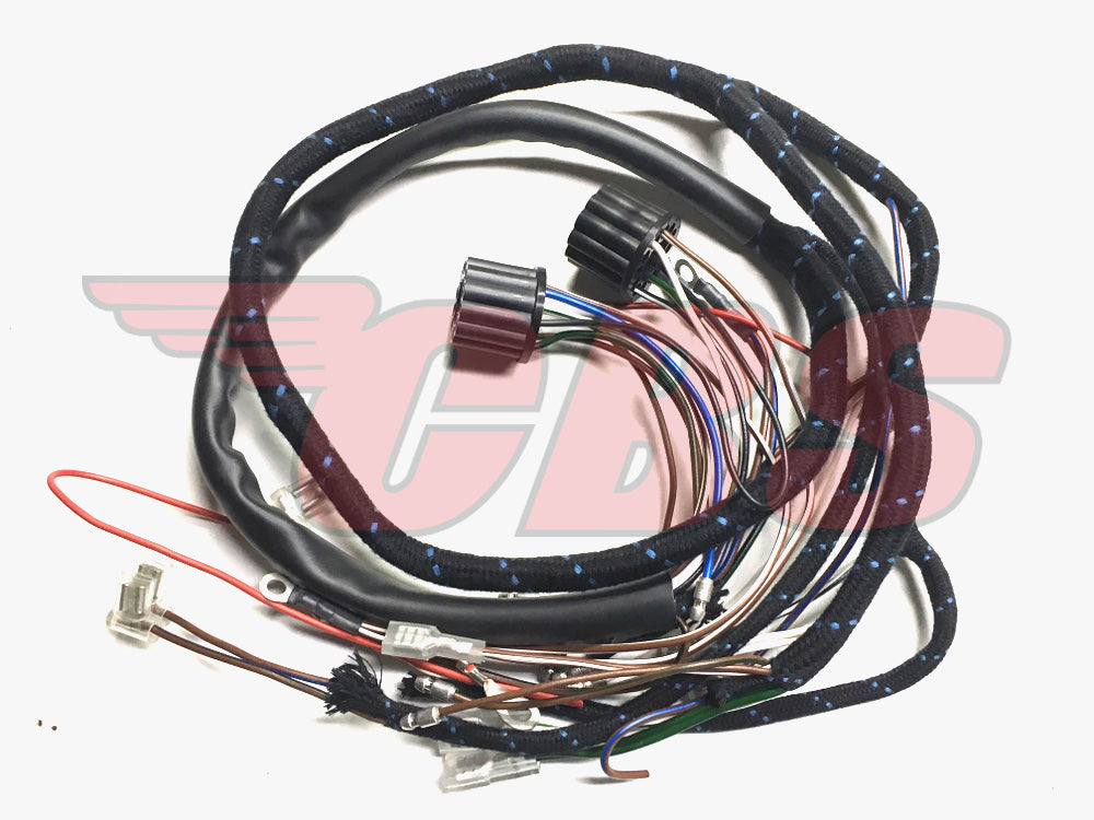 BSA A50 / A65 Cloth Bound Wiring Harness (1) 54949736 - 1962-65 Make A Wiring Harness on alpine stereo harness, amp bypass harness, battery harness, suspension harness, cable harness, pony harness, radio harness, dog harness, maxi-seal harness, oxygen sensor extension harness, fall protection harness, pet harness, obd0 to obd1 conversion harness, nakamichi harness, engine harness, safety harness, electrical harness,
