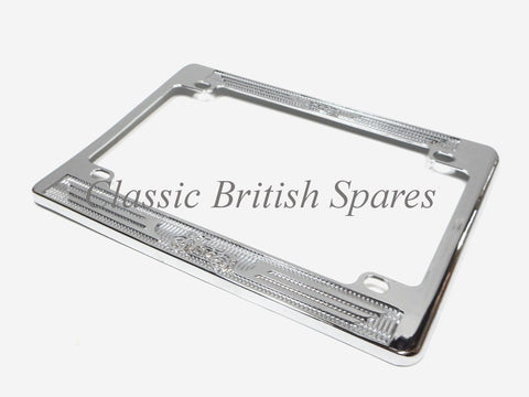 Motorcycle Large License Plate Chrome Frame