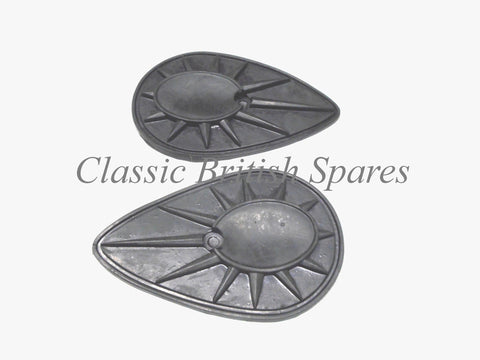 "BSA ""Pear Shape"" Tank Badge Rubber Pads (1 PAIR) - 68-8152 - A7 / A10 / A50 / A65"