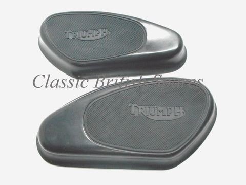 Triumph Gas Tank Rubber Knee Pads (1 SET) - 82-1605 & 82-1606 - T110 / T120 / TR5 / TR6
