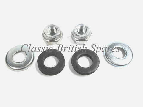 Triumph Inlet Carburetor Mount Set 70-9555K Stiff-Nut Cupped Washer 1970 & On